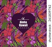 tropical flowers   Shutterstock .eps vector #261839762