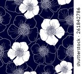 seamless pattern with flowers | Shutterstock .eps vector #261842786