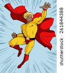super hero in cool bright... | Shutterstock .eps vector #261844388