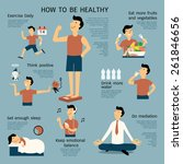 infographics about how to be... | Shutterstock .eps vector #261846656