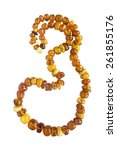 String Of Amber Bead Isolated...