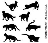 cat silhouette collection | Shutterstock .eps vector #261860366