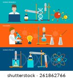 science research and chemical... | Shutterstock .eps vector #261862766