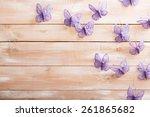 paper out butterflies  on...   Shutterstock . vector #261865682