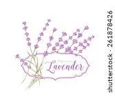 Label With Lavender Flowers An...