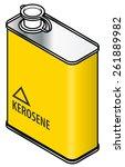 a yellow rectangular metal tin...   Shutterstock .eps vector #261889982