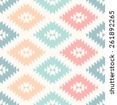 colorful pastel navajo... | Shutterstock .eps vector #261892265