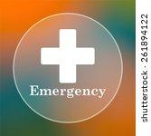 emergency icon. internet button ... | Shutterstock . vector #261894122