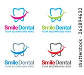 dental logos collection in... | Shutterstock .eps vector #261894632