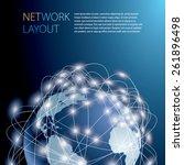 world globe vector background. | Shutterstock .eps vector #261896498