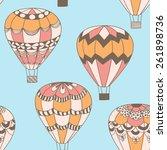 summertime concept seamless... | Shutterstock .eps vector #261898736