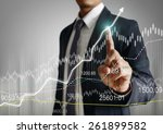 businessman with financial... | Shutterstock . vector #261899582
