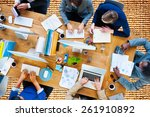 business people working office... | Shutterstock . vector #261910892