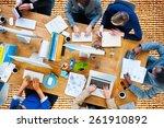 business people working office... | Shutterstock . vector #261910892