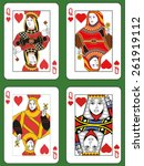 Four Queens Of Hearts In Four...