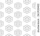 seamless isometric pattern... | Shutterstock .eps vector #261920402