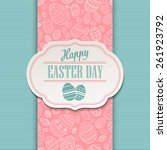 easter greeting card. holiday... | Shutterstock .eps vector #261923792