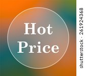 hot price icon. internet button ...   Shutterstock . vector #261924368