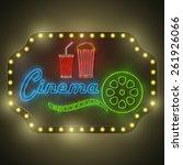 neon colorful cinema retro... | Shutterstock .eps vector #261926066