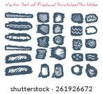 a set of freehand scratches... | Shutterstock .eps vector #261926672
