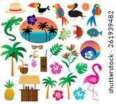 tropical clip art | Shutterstock .eps vector #261939482