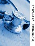 ecg and stethoscope concept