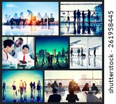 global business people... | Shutterstock . vector #261958445