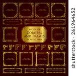 golden corners and frames in... | Shutterstock .eps vector #261964652