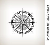 Silhouette Compass Rose  Wind...