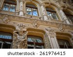 antique images in facade... | Shutterstock . vector #261976415