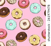 donut vector  | Shutterstock .eps vector #261979478