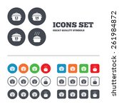 cooking pan icons. boil 13  14... | Shutterstock .eps vector #261984872