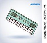 vector piano keyboard icon ... | Shutterstock .eps vector #261991295