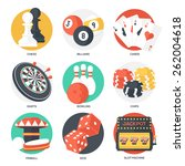 casino sport and leisure games... | Shutterstock .eps vector #262004618