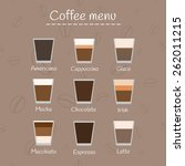 coffee menu on seamless... | Shutterstock .eps vector #262011215