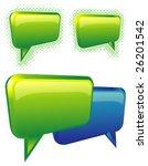 glossy bubbles. vector.   Shutterstock .eps vector #26201542