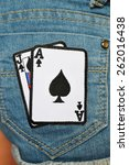 playing cards patch embroidered ... | Shutterstock . vector #262016438