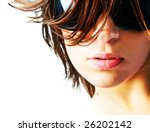 beautiful girl with big glasses ... | Shutterstock . vector #26202142