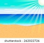 tropical beach | Shutterstock .eps vector #262022726