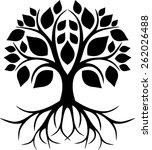 roots tree   Shutterstock .eps vector #262026488