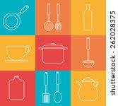 kitchen design over colorful...