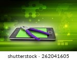 smart phone repair service... | Shutterstock . vector #262041605