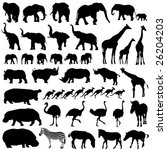 Stock vector vector collection of isolated animals silhouettes 26204203