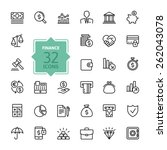 outline web icon set   money ... | Shutterstock .eps vector #262043078