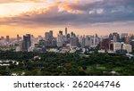 bangkok city skyline downtown | Shutterstock . vector #262044746
