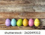 colorful easter eggs background | Shutterstock . vector #262049312