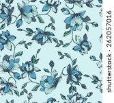 seamless floral pattern.... | Shutterstock .eps vector #262057016