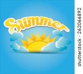 beautiful summer illustrations .... | Shutterstock .eps vector #262066892