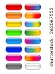 a set of transparent colored... | Shutterstock . vector #262067552