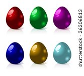 set of colorful  easter eggs | Shutterstock .eps vector #26206813